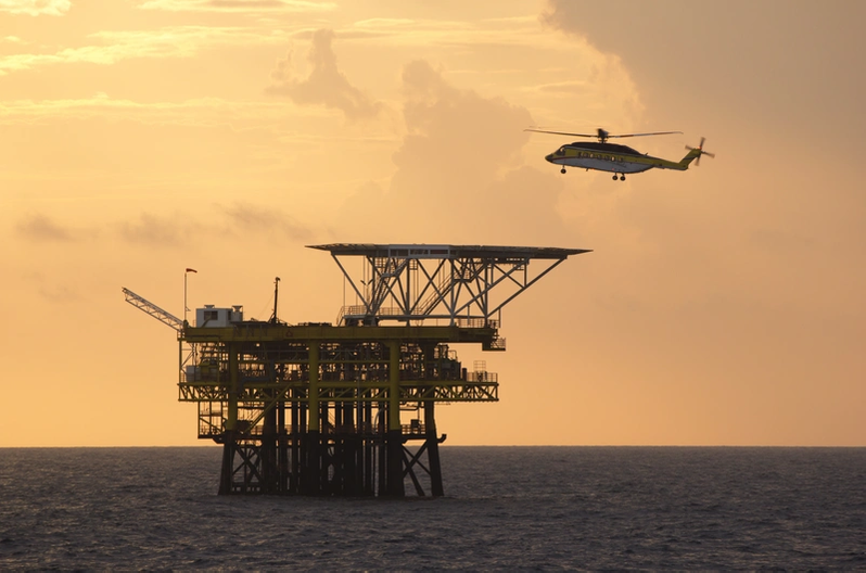 Oil field being monitored